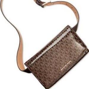 Michael Kors Fanny Pack Belt Bag Brown/Gold L/XL